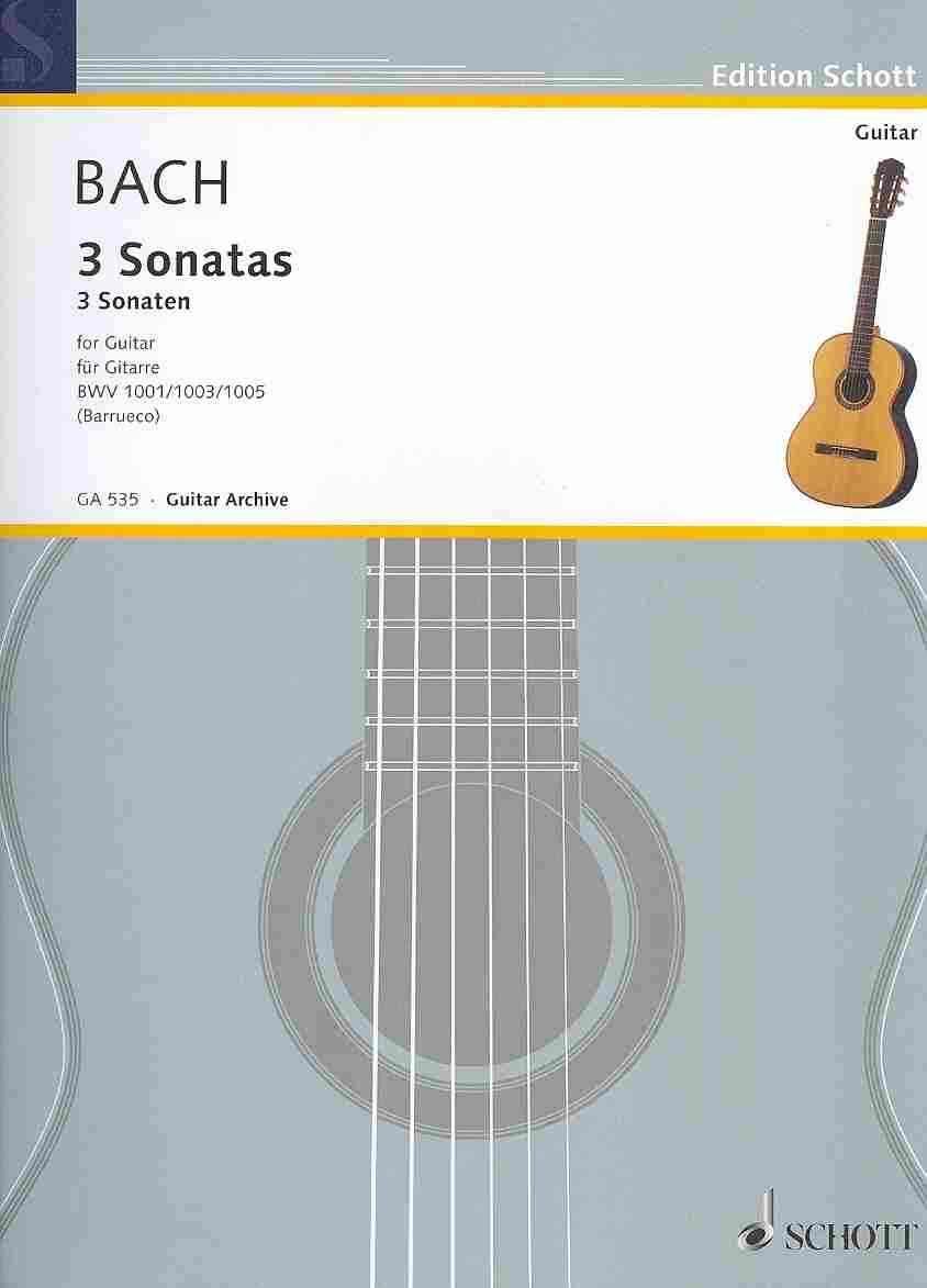 3 Sonatas for Guitar By Bach, Johann Sebastian (COP)/ Barrueco, Manuel (ADP)